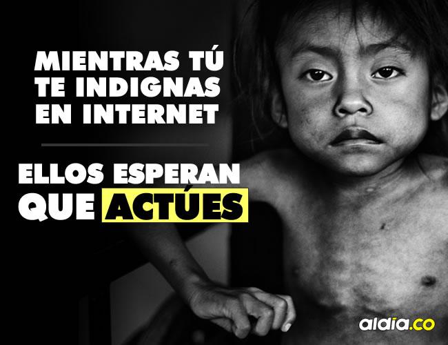 Recordemos que todos podemos denunciar estos casos para que los niños reciban atención a tiempo y se restablezcan sus derechos, es decir, se les garantice una alimentación adecuada y balanceada | ALDIA.CO