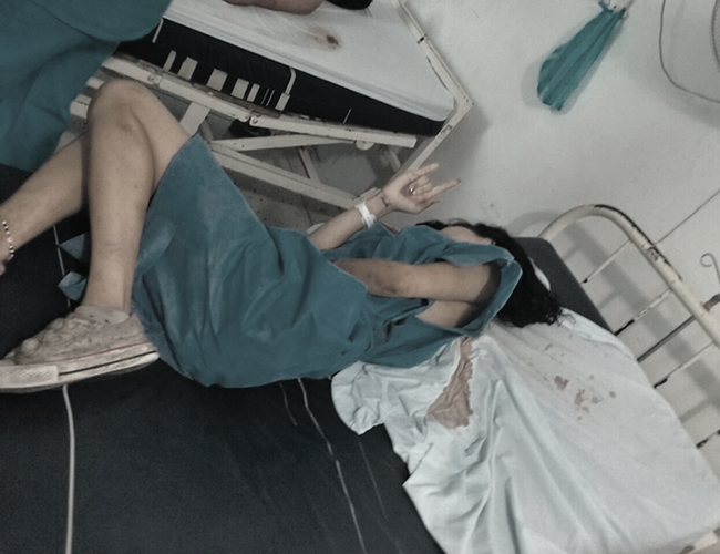 Una de las menores de edad presenta heridas con piedra en la cabeza y la espalda. Está hospitalizada en Ciénaga. | Foto: Archivo