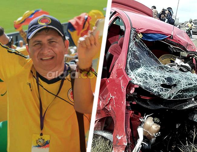 El comerciante Carvajal Lozano quedó entre las latas retorcidas del carro, donde viajaba con su familia. | AL DÍA