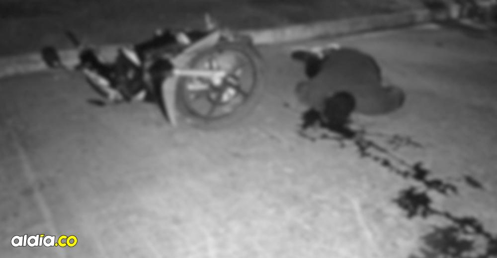Motociclista murió en accidente