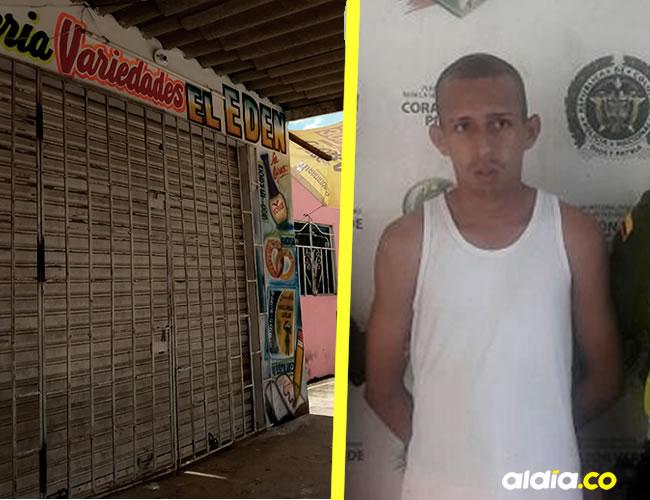 En esta panadería ocurrió el atentado. Adalberto Roa Corrales, capturado.