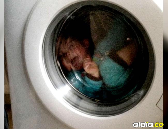 El pequeño permaneció varias horas encerrado en la lavadora pública | Referencia