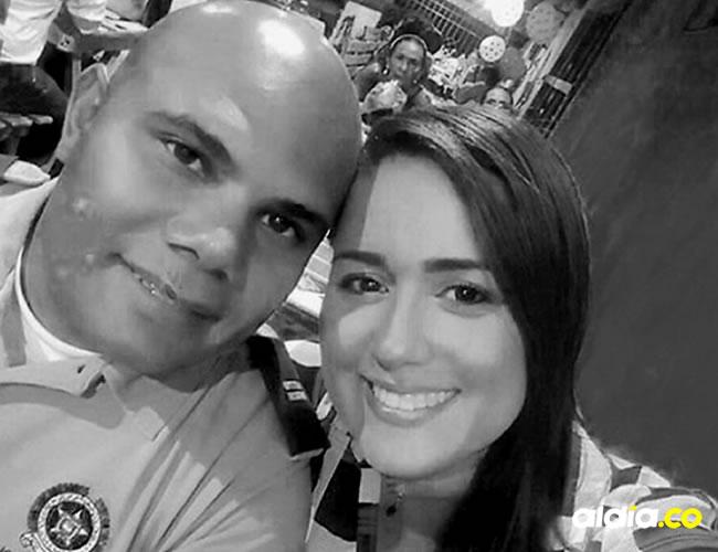 El teniente Juan Agámez y Ginna Ricardo Cantillo | Cortesía