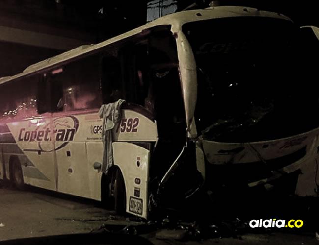 Así quedó el bus accidentado en la Cordialidad | Wasapea a EL HERALDO.