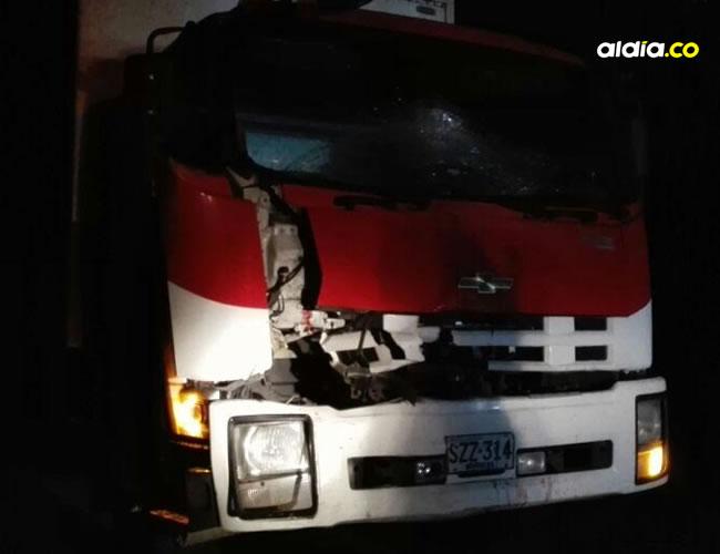 El accidente de tránsito ocurrió a la 1.30 a.m. de ayer en el kilómetro 40 de la Troncal.