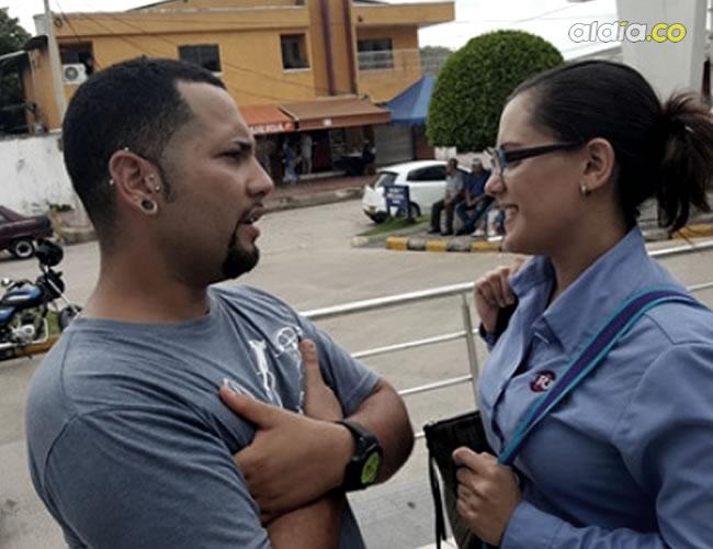 Kevin Manuel Perry Delgado y Yanina Caserta Barros, quienes encontraron al bebé | José Rodríguez