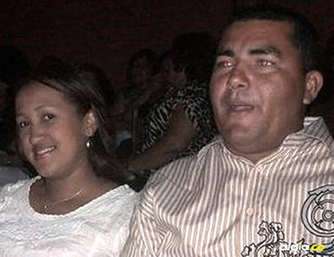 Luzkelly Mosquera y su esposo Orlando Mosquera, sindicado de asesinarla. El hombre está en la Cárcel de Sabanalarga | Cortesía