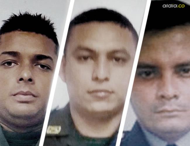 Patrullero José Hernández Castañeda, patrullero Fernando Olivella Contreras, patrullero Jeaan Dorado De Lima | Cortesía