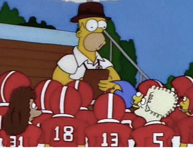 Homero entrenador. No está pero nos hizo reír   Captura de pantalla