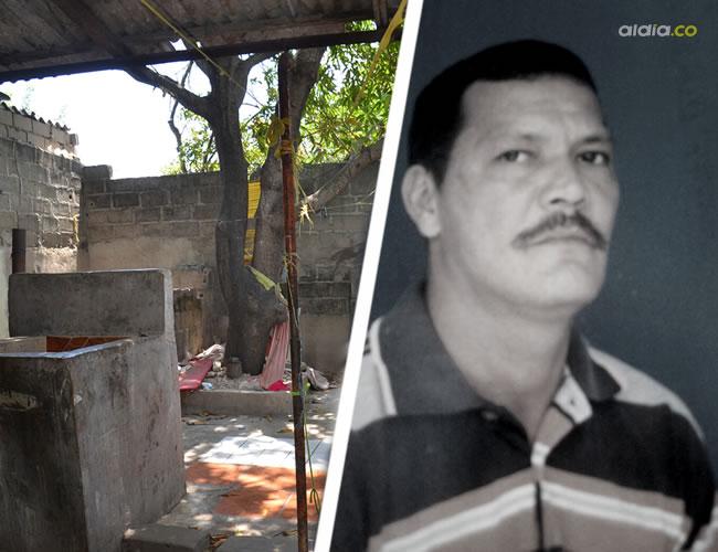En el patio de esta vivienda fue hallado sin vida, boca arriba y con un golpe en el mentón, Luis Alfonso Ríos Molano | Luis Felipe De la Hoz