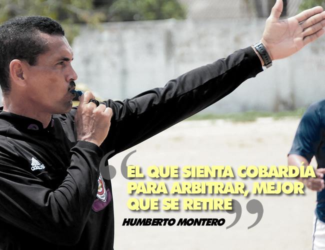 Montero lleva 27 años ininterrumpidos ejerciendo como árbitro. | Foto: ALDIA