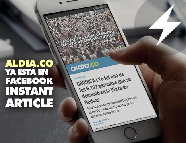 Los Artículos Instantáneos de Facebook están disponibles para usuarios de Android y iPhone y podrán identificarlos cuando vean un 'rayo' en la parte superior derecha de las imágenes que acompañan a cada artículo. | ALDIA.CO