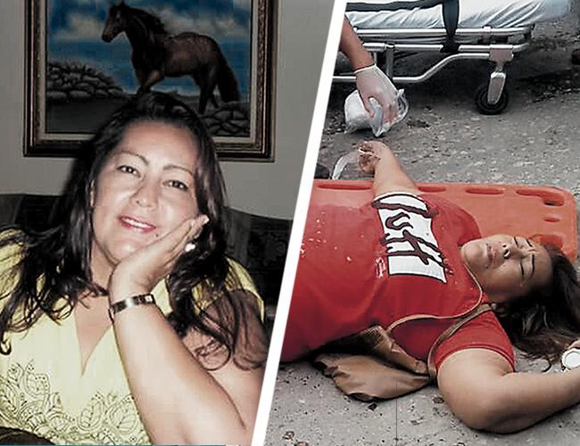 Jackelín Ramón, de 50 años, mientras era auxiliada por paramédicos. Aún estaba con vida. | AL DÍA
