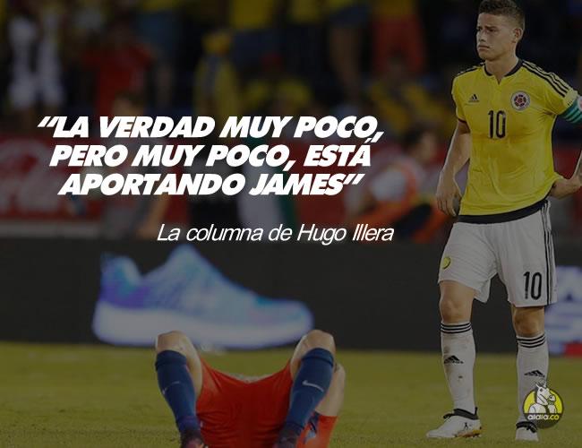 El capitán de la Selección Colombia no tuvo un buen partido contra el seleccionado de Chile | ALDIA.CO