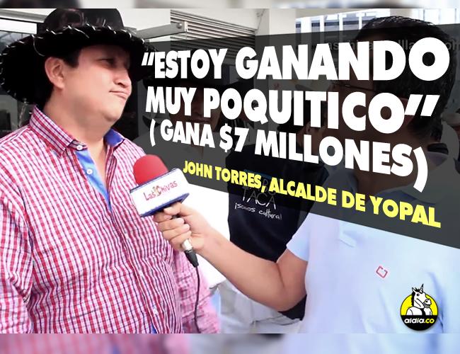 El alcalde de Yopal, Casanare, conocido como 'John Calzones', afirmó en una entrevista que merece un mejor sueldo porque es yopaleño y tiene una familia numerosa | ALDIA.CO