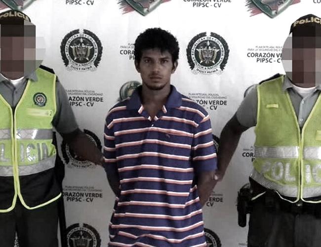 Luis Pandora Sandoval, el joven capturado, fue dejado a disposición de la Unidad de Reacción Inmediata (URI), de la Fiscalía de Soledad, para su posterior judicialización. | PN