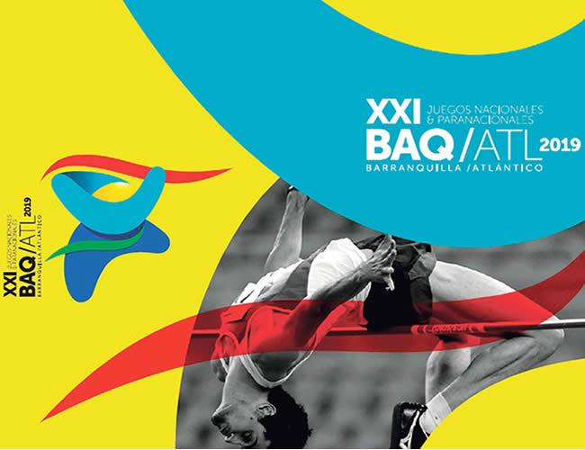 Este es el logo que presentó Atlántico para albergar los XXI Juegos Nacionales 2019. | Foto: Archivo