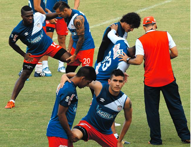 Los jugadores del Junior de Barranquilla en entrenamientos para su próximo encuentro este sábado para la Liga Águila I   Foto: Archivo