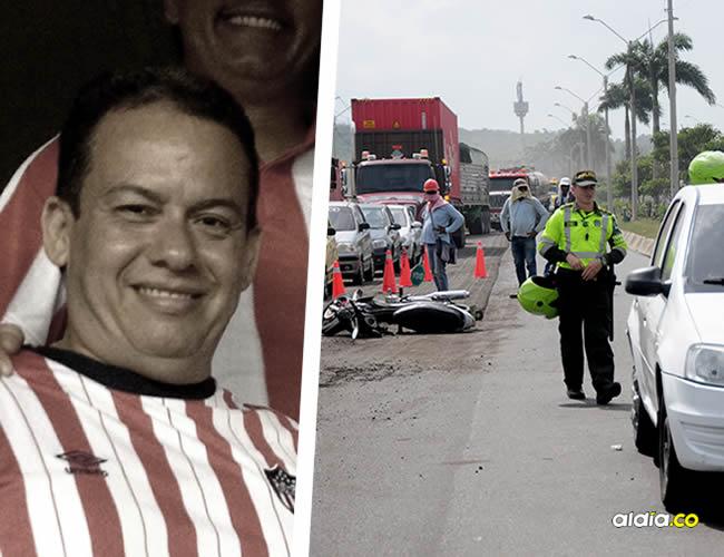 Donado Ochoa transitaba por el tercer carril de la carretera, de un momento a otro se abrió hacia el centro de la vía para adelantarse, pero tropezó y fue arrollado por un Renault Logan.   Al Día