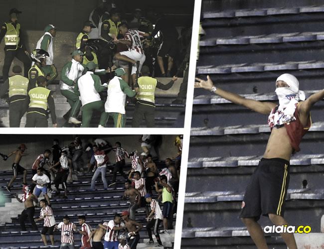 Un verdadero caos se vivió dentro y fuera del Estadio Metropolitano, luego de la derrota 0-1 de Junior frente a Atlético Nacional, por la final de la Copa Águila | Al Día