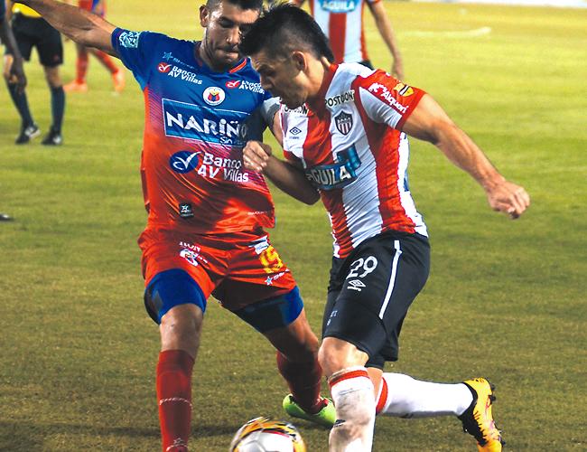 Para Jorge Aguirre, el árbitro Carlos Herrera se excedió en la expulsión al comienzo del segundo tiempo del nariñense Édinson Toloza. | Foto: AL DÍA