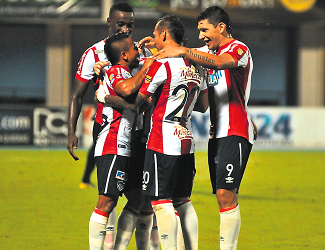 El conjunto barranquillero sumó su cuarta victoria en la Liga Águila I, donde se mantiene invicto, tras derrotar anoche 2-1 a Alianza en Barrancabermeja. | Foto: Archivo