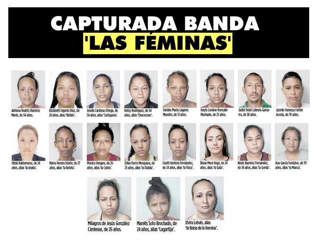 23 personas, 22 mujeres y un hombre, fueron capturados en Barranquilla, Cartagena y Montería. | Foto: AL DÍA