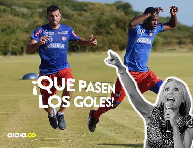 El argentino Bernardo Cuesta (izq) marcó 21 tantos, mientras que el colombiano Robinson Aponzá fue el goleador con 30 dianas.