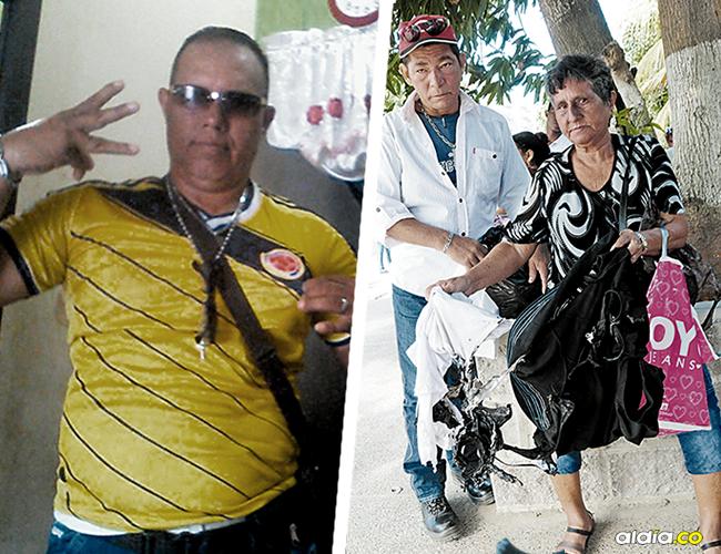 Iván Cuenta Ruiz, de 47 años, falleció el 25 de diciembre. Emilce Ruiz enseña la ropa quemada de su hijo. | AL DÍA