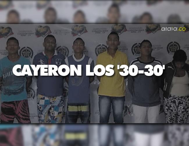 Estos son los capturados y presuntos miembros de la banda 'Los 30-30' | Foto: Al Día