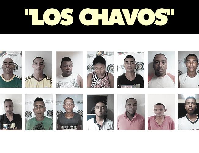 Los 14 capturados presentan anotaciones judiciales por diferentes delitos como tráfico de estupefacientes, extorsión y homicidios selectivos, según confirmó la Policía del Atlántico. | Foto: ALDIA.CO