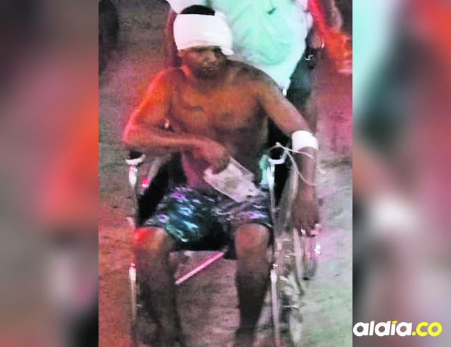 Luis Sotomayor Castellanos fue herido por su hermano.