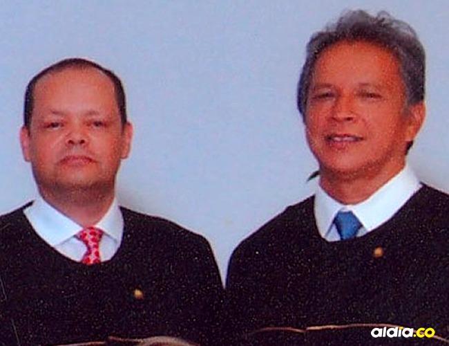 Exmagistrados: Fernando Castañeda Cantillo y Félix María Galvis.   Tomado de: La Opinion.