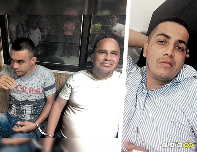 Gustavo Enrique Vélez Restrepo y Moisés Carreño Becerra, capturados tras atracar a un comerciante en Olaya. Jorge Armando Flórez Colón, fletero herido y capturado. | AL DÍA
