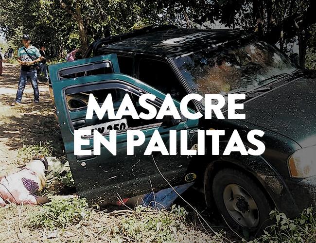 Dos de los cuerpos quedaron tendidos cerca a la camioneta, mientras que el conductor de la misma quedó dentro del vehículo. | Al Día