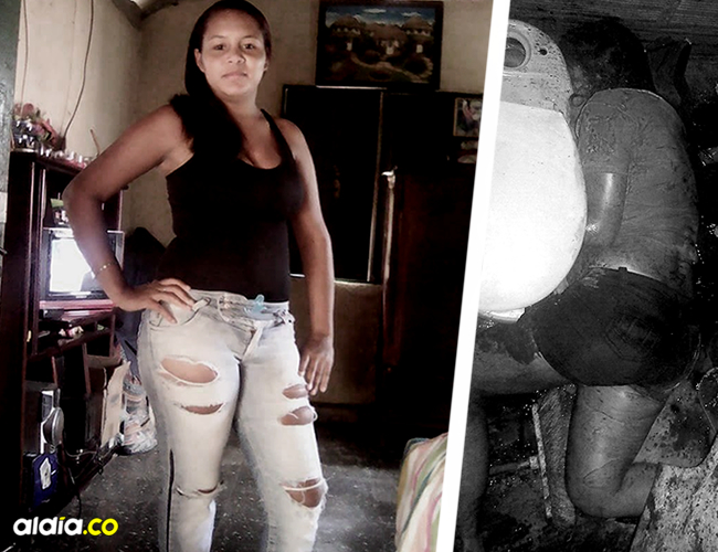 El cuerpo de Alexandra Berrocal quedó tendido en el baño. | AL DÍA