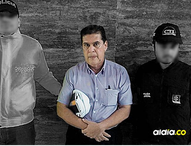 Álvaro Echevarría, médico de profesión, en la foto durante su captura por parte de la Policía y el CTI | Policía Nacional