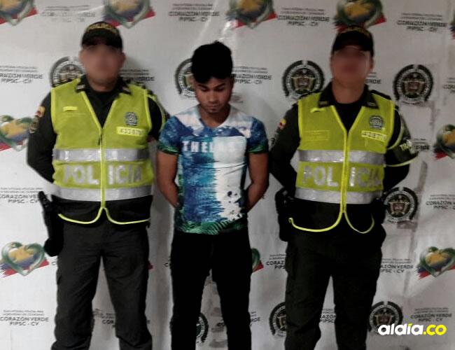 Elías David Villanueva River, de 19 años, fue capturado por las autoridades | Cortesía