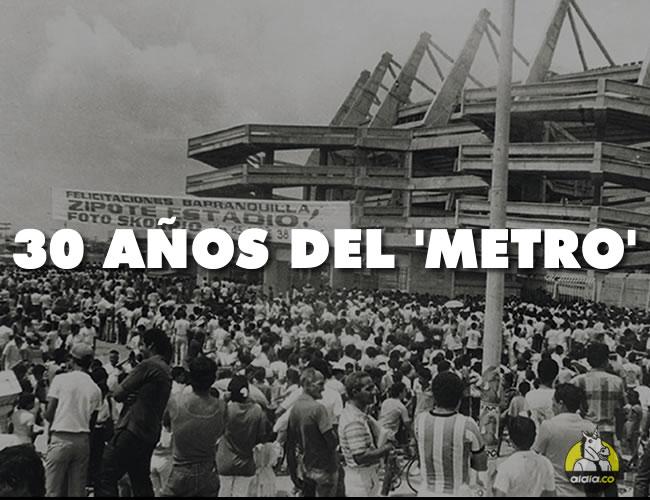 En la tarde del 11 de mayo de 1986 se inauguró el estadio Metropolitano, ubicado en la Ciudadela 20 de Julio. El lleno en sus tribunas fue total y los barranquilleros se gozaron la fiesta ante los uruguayos | Foto: Archivo