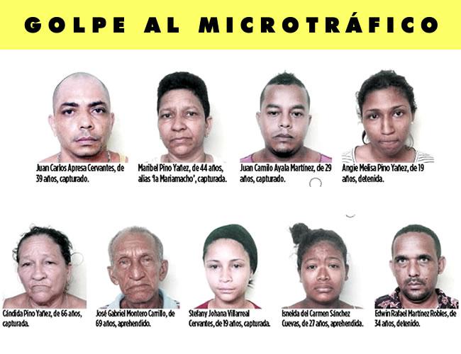 En tres allanamientos la Policía les incautó 5.100 dosis de droga | Foto: Al Día