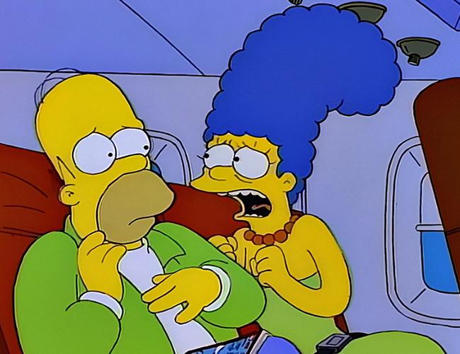 En la actualidad existen hasta aplicaciones que te ayudan a tener un mayor control sobre las condiciones de tu vuelo y a tranquilizarte. | The Simpsons