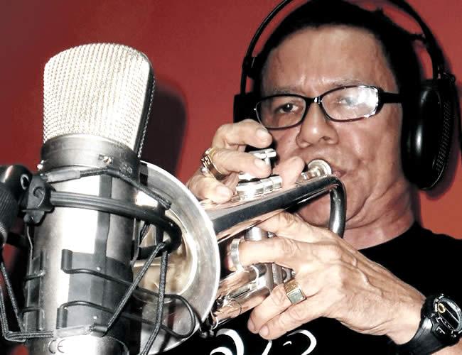 Miguel Emiro durante una grabación | Foto: Archivo particular