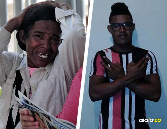izeth Mesino Ibáñez, madre de Madinson, se toma la cabeza en medio del dolor que siente por la muerte de su hijo. Madinson José Ortega Mesino tenía 20 años   Cortesía