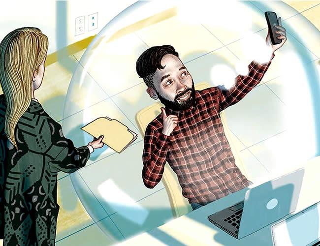 Lo millennials son  quienes más consumen noticias y se informan por las redes sociales   Ilustración: Philly Mag