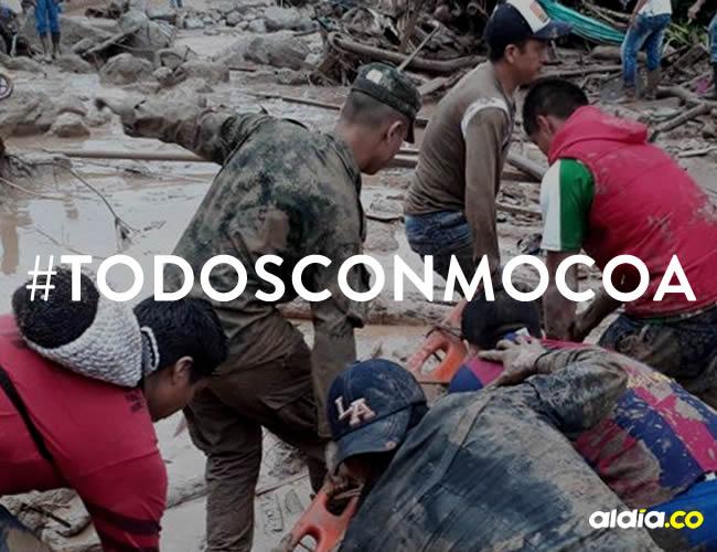 La emergencia se generó alrededor de las 11:30 p.m. del viernes por el desbordamiento de los ríos Mocoa, Mulato y Sangoyaco | Cortesía
