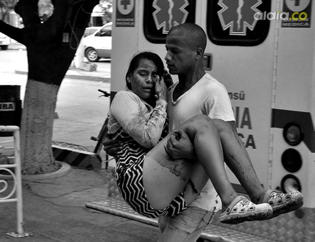 La mujer llegó al hospital de Riohacha con heridas en el rostro | Al Día
