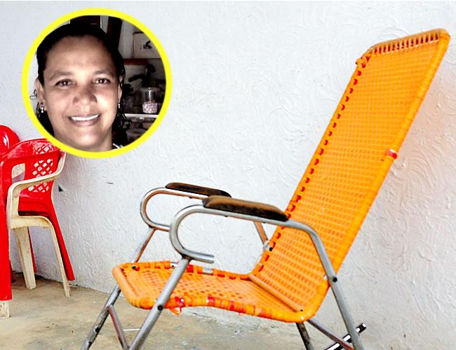 En esta mecedora en la terraza de la vivienda, en la calle 117 No. 10G - 03, barrio El Pueblo, atacaron a bala a Diana | Foto: Al Día