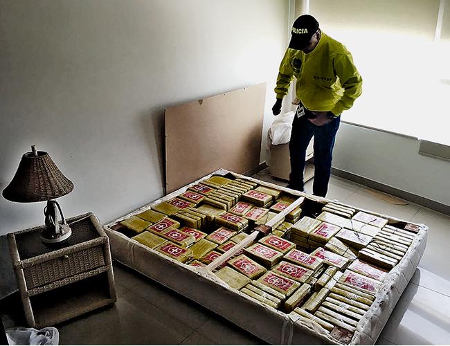 La droga estaba camuflada en un somier, en la habitación de un lujoso edificio en Bocagrande. | Archivo