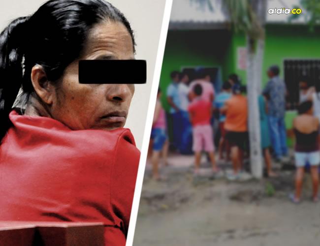 Los vecinos se congregaron en la vivienda de la abuela, este jueves, para decir que la mujer es inocente. | Al Día
