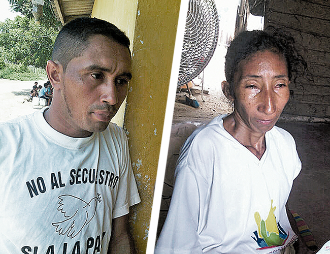 David Domínguez y Ana Escorcia Ahumada padre y madre de las niñas de 14 y 13 años (respectivamente) afectadas. | Foto: Al Día